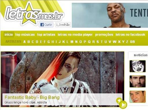Big Bang - Destaque no Letras