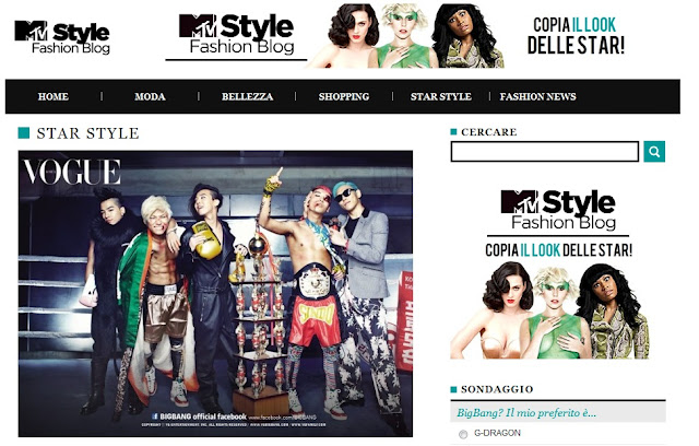 Big Bang Featured on MTV Italy's Style Blog [NEWS] – Cyn's