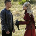 Michael Socha as the Knave and Emily Rigby as the Red Queen in the mid-season finale