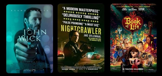 Flash Film Review: 'John Wick', 'Nightcrawler' & 'Book of Life