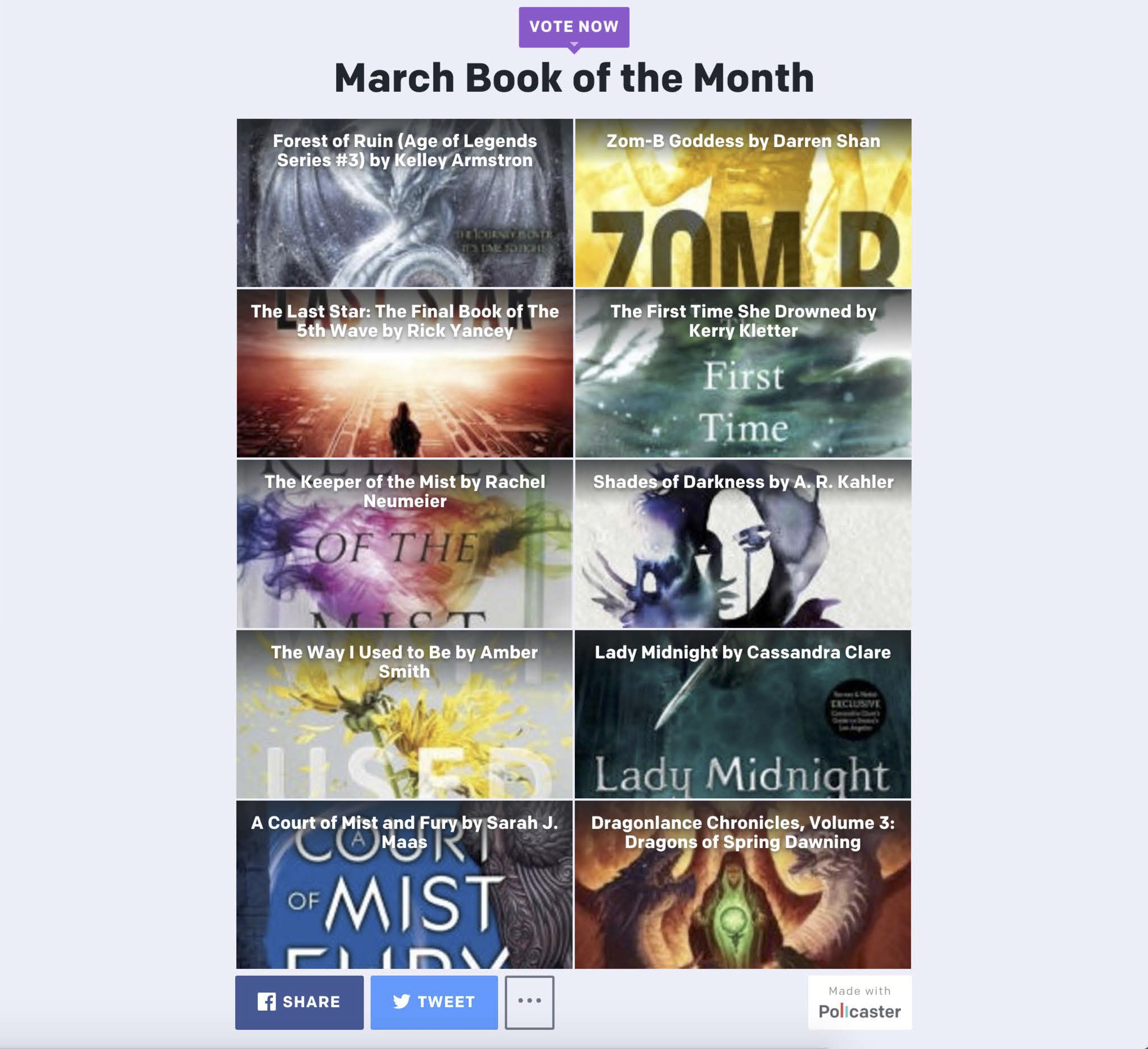 Book of the Month Poll