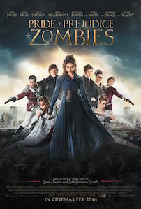 Pride and Prejudice and Zombies starring: : Lily James, Sam Riley & Lena Headey Image Credit: Wikipedia