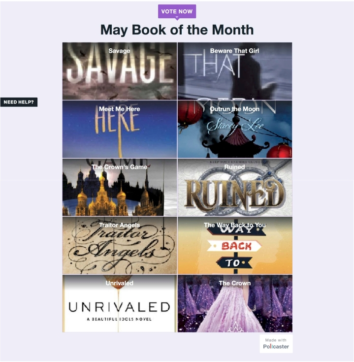 May Book of the Month Poll