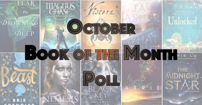 Book of the Month Poll – October 2016