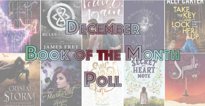 Book of the Month Poll – December 2016
